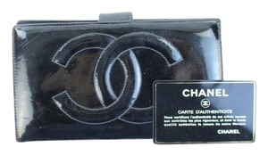 Chanel Patent Leather CC Bifold Long Wallet 58CCA32717