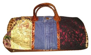 Clever Carriage Company Denim Patchwork New Never-worn Satchel in Multi-Colored