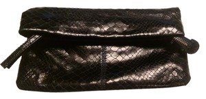 Club Monaco Day And Evening Wear Black irridescent Clutch