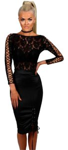 Other Sheer Bodysuit Party Mesh Bodysuit Lace Bodysuit Bodysuit Top BLACK