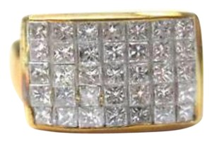 Other Fine 18Kt Inivisble Diamond Square Jewelry Ring 1.48CT