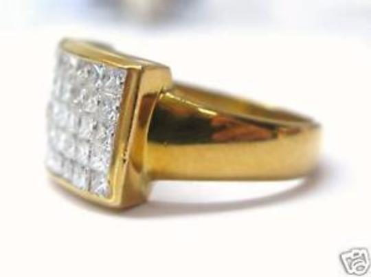 Other Fine 18Kt Inivisble Diamond Square Jewelry Ring 1.48CT Image 3