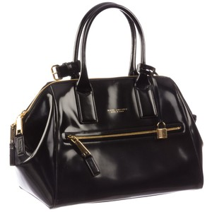 Marc Jacobs Tote in Black w/ Deep Gold