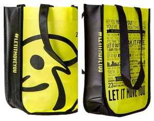 Zumba Fitness Shopping Tote In Yellow And Black