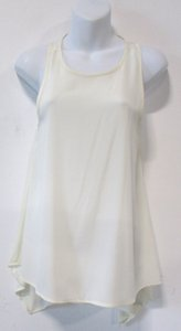 d0f90d1b81f Leith Asymmetrical Tunic Oversize Flowy Sheer Top Cream