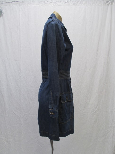 FRAME short dress Blue Denim Long Sleeved New With Tags Size 4 on Tradesy Image 2