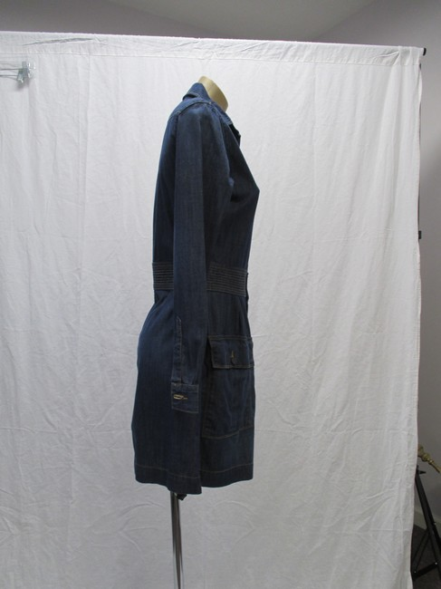 FRAME short dress Blue Denim Long Sleeved New With Tags Size 4 on Tradesy Image 3