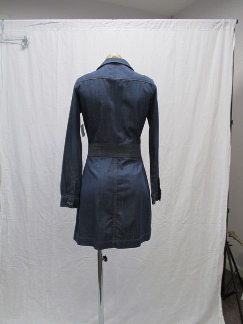 FRAME short dress Blue Denim Long Sleeved New With Tags Size 4 on Tradesy Image 4