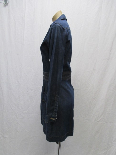 FRAME short dress Blue Denim Long Sleeved New With Tags Size 4 on Tradesy Image 5