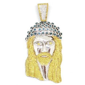 Jacob & Co. JACOB 14k White Gold Diamond Jesus Head Pendant