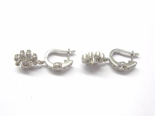Other 18Kt Flower Diamond Solid White Gold Earrings 1.30Ct Image 1