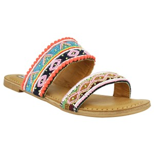 Not Rated Spira Beaded Brights Multi Sandals