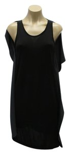 3.1 Phillip Lim Black/Gray Size 4 New With Tags Silk/Sleeveless Dress
