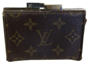 Louis Vuitton Louis Vuitton Signature Kisslock Classic Monogram Pouch Wallet
