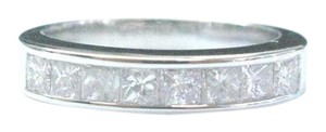 Other 18Kt Princess Cut Diamond White Gold 8-Stone Invisible Setting Ring .8