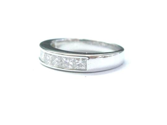 Other 18Kt Princess Cut Diamond White Gold 8-Stone Invisible Setting Ring .8 Image 1