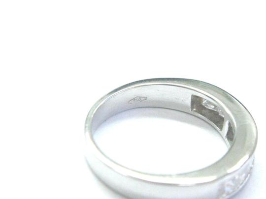 Other 18Kt Princess Cut Diamond White Gold 8-Stone Invisible Setting Ring .8 Image 2
