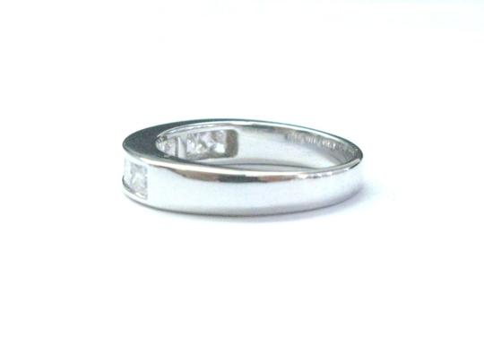 Other 18Kt Princess Cut Diamond White Gold 8-Stone Invisible Setting Ring .8 Image 3