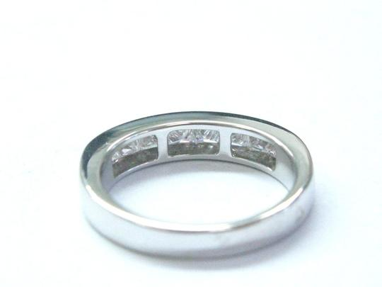 Other 18Kt Princess Cut Diamond White Gold 8-Stone Invisible Setting Ring .8 Image 4