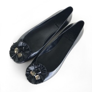 Tory Burch Jelly Embellished Ballerina Black Flats