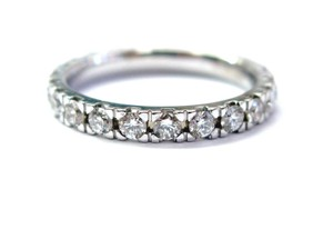 Other Fine Round Cut Diamond Eternity Band Ring WG 1.16CT Sz 6