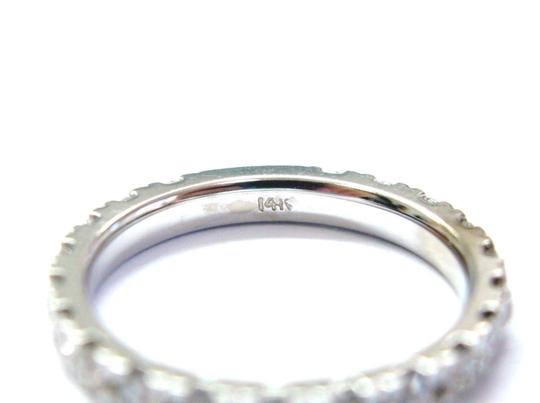 Other Fine Round Cut Diamond Eternity Band Ring WG 1.16CT Sz 6 Image 2