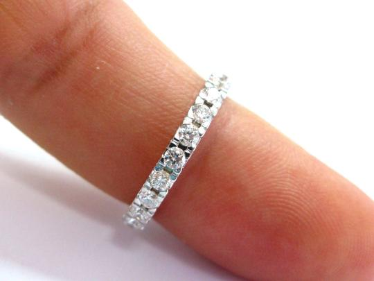 Other Fine Round Cut Diamond Eternity Band Ring WG 1.16CT Sz 6 Image 3