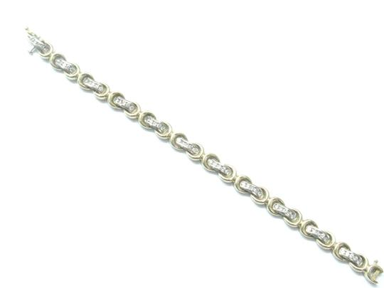 Other Fine Round Cut Diamond Stationary Yellow Gold Tennis Bracelet 1.55Ct 7 Image 1