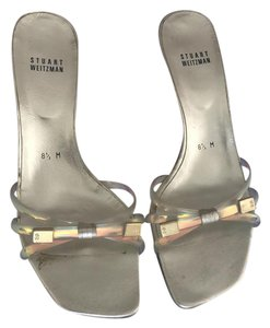 Stuart Weitzman Gold and clear Sandals