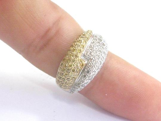 Other Fine Round Cut White & Yellow Diamond White Gold Bypass Ring 1.08Ct Image 5