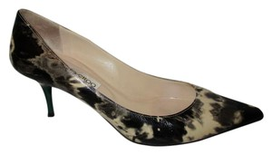 Jimmy Choo Patent Leather black, grey, beige & green Pumps