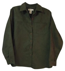 Cherokee Soft Velour Top olive green