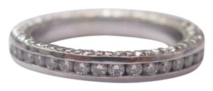 Other 18KT Round Cut Diamond Eternity Band Ring Solid White Gold .75CT