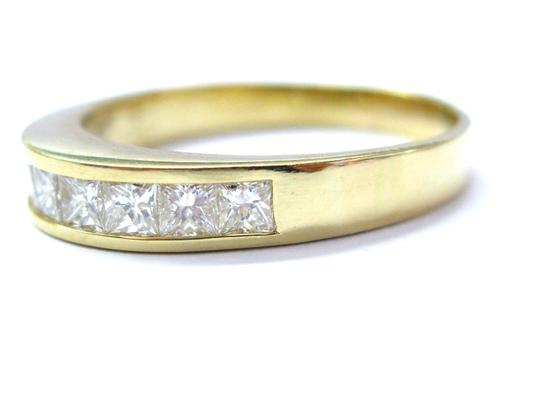 Other 18KT Princess Cut Diamond Channel Set Band Ring 8-Stone Yellow Gold 1. Image 1