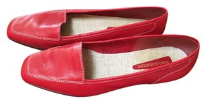 Enzo Angiolini Patent Leather Bright Spring Loafer Red Flats