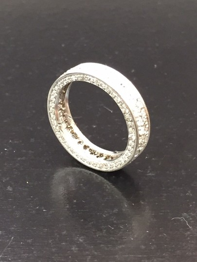 Other Fine Round Diamond Pave 2-Row White Gold Band Ring 14Kt 1.40Ct Sz 4.25 Image 3