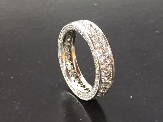 Other Fine Round Diamond Pave 2-Row White Gold Band Ring 14Kt 1.40Ct Sz 4.25 Image 4