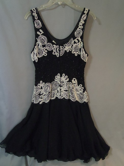 Laurence Kazar Sequin Pearl Beads Prom Dress Image 1