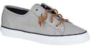 Sperry Canvas Sneakers 8 Grey Athletic
