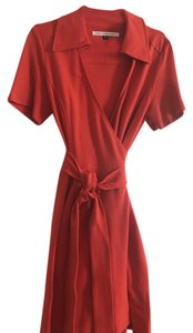 Diane von Furstenberg short dress Red /Orange Wrap on Tradesy