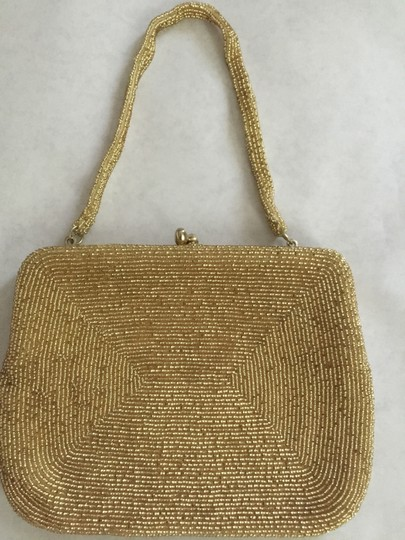 Walborg Beaded Vintage gold Clutch