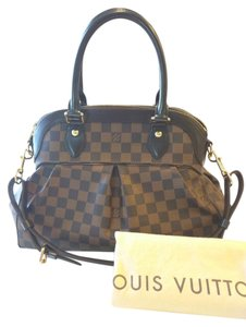 Louis Vuitton Trevi Pm Damier Ebene Satchel in Brown