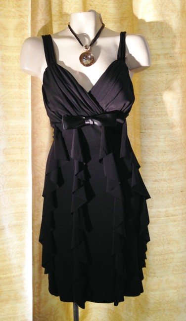 Connected Apparel Ruffle Date Night Wedding Sexy Dress Image 5
