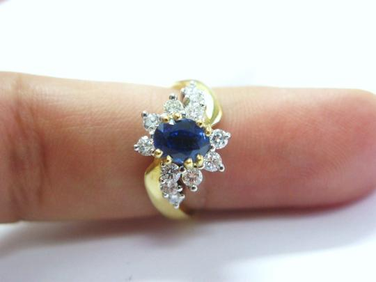 Other 18Kt Gem Sapphire Diamond Anniversary Jewelry Ring YG 1.60CT Image 4