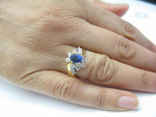 Other 18Kt Gem Sapphire Diamond Anniversary Jewelry Ring YG 1.60CT Image 5