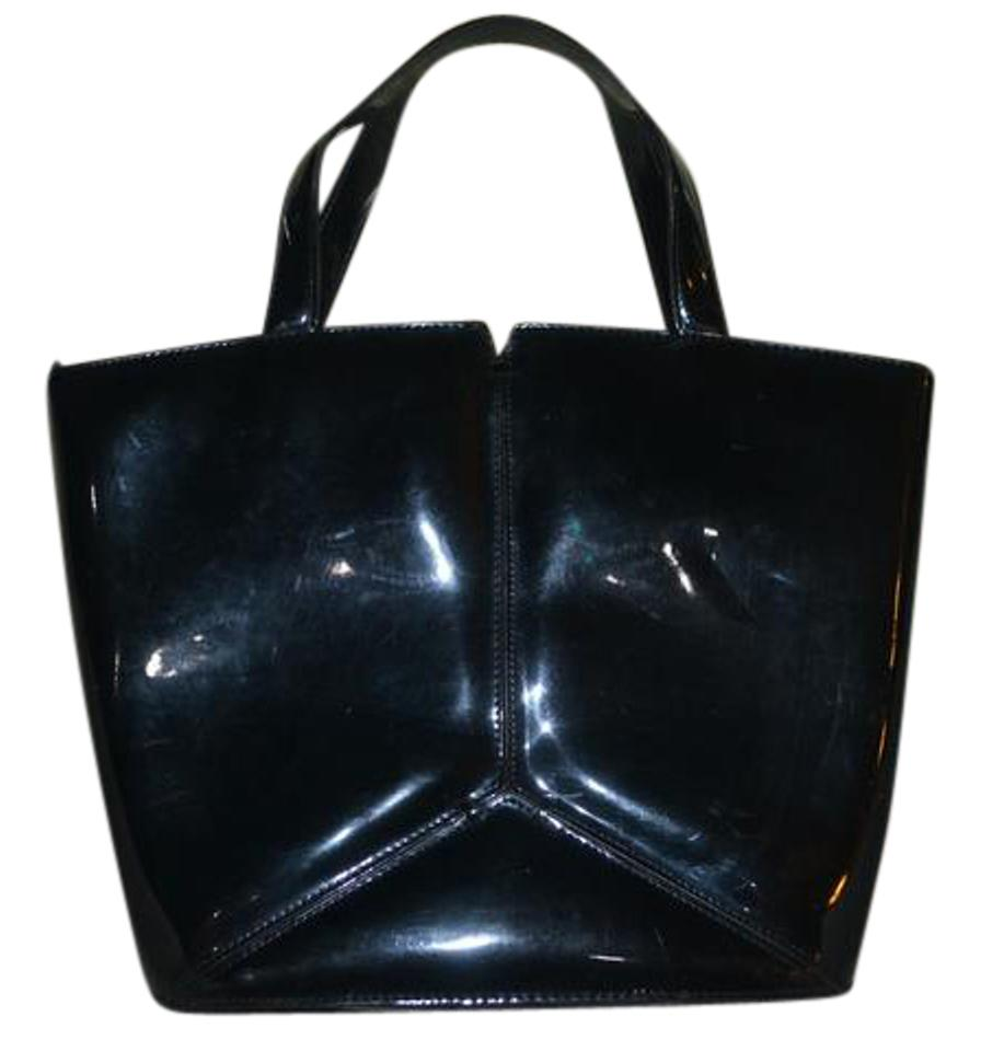 DKNY Patent Leather Handbag Shoulder Bag … ls00258b-black-patent-bow-framed -satchel 4 26e7c4b7a8272