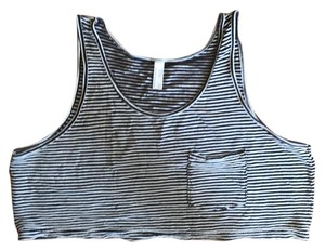 American Apparel Top navy/ white stripe