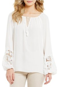 Alex Marie Lace Mercia Top ivory/white
