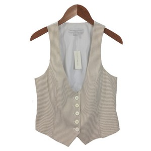 New York & Company Pinstripe Spring Summer Casual Vest