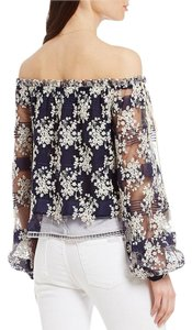 Lucy Paris Hippie Embroidered Off The Top navy